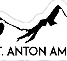 SKIING SAINT ANTON AM ARLBERG Ski Mountain Mountains Skis Silhouette Snowboard Snowboarding Sticker