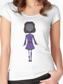 Scary Doll Girl Women's Fitted Scoop T-Shirt