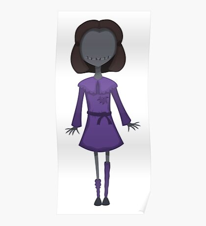 Scary Doll Girl Poster