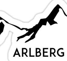 SKIING ARLBERG AUSTRIA Ski Mountain Mountains Skis Silhouette Snowboard Snowboarding Sticker