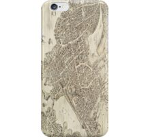 Vintage Pictorial Map of Portsmouth NH (1877) iPhone Case/Skin