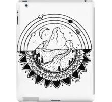 Space Mountain / white iPad Case/Skin