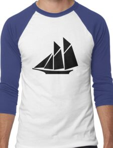 Sailboat Silhouette Men's Baseball ¾ T-Shirt
