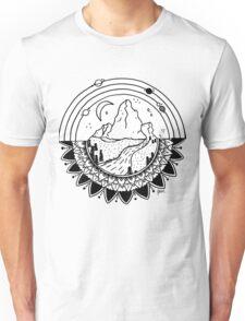 Space Mountain / white Unisex T-Shirt