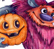 Pink fluffy Monster & Friends Sticker