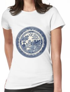China Blue Willow Womens Fitted T-Shirt