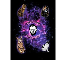 Cats in space, Abraham Lincoln: These hoes aint loyal Photographic Print