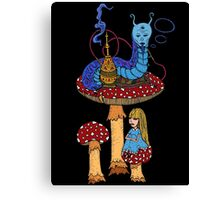 Hookah Smoking Catterpillar  Canvas Print
