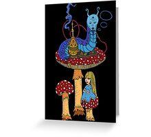 Hookah Smoking Catterpillar  Greeting Card