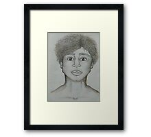 Half of me is broken Framed Print