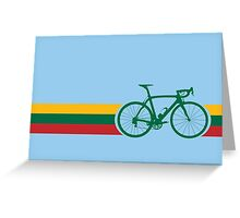 Bike Stripes Lithuanian National Road Race Greeting Card