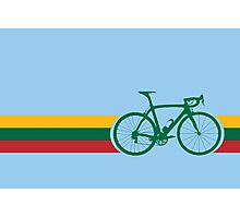 Bike Stripes Lithuanian National Road Race Photographic Print