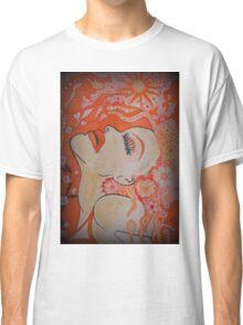 Orange Floral Portrait - Release Classic T-Shirt