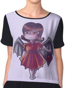 Vampir Mädchen Chiffon Top