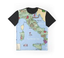 Italy cartoon map Graphic T-Shirt