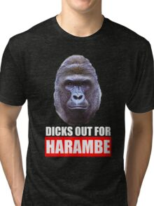 dicks out for harambe Tri-blend T-Shirt