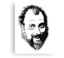 Duncan's Digressions Face Canvas Print