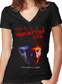 Exorcist 3 The Gemini Killer T-Shirt Women's Fitted V-Neck T-Shirt