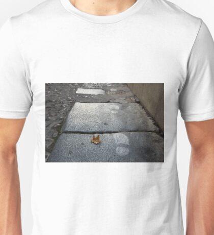 hoja y huellas Unisex T-Shirt