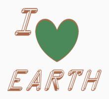 I Love Earth One Piece - Short Sleeve