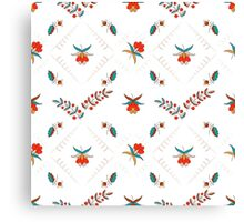 Floral ornament in Hungarian style Canvas Print