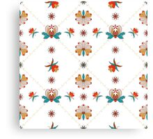 Floral ornament with cells in Hungarian style Canvas Print