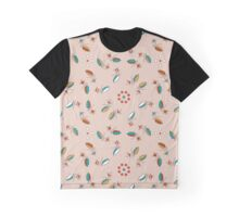 Floral ornament with berry branch and drops Graphic T-Shirt