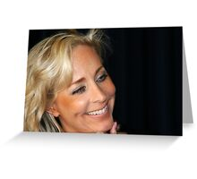 Blond Woman Smiling Greeting Card
