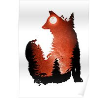 In the Swaying Forest Trees Poster