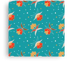 Floral ornament with berry Canvas Print
