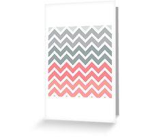 Salmon Peach Fade Chevron Pattern Greeting Card
