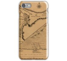 Map of Louisbourg 1757 iPhone Case/Skin