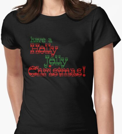 Holly jolly Christmas Womens Fitted T-Shirt