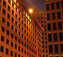 Downtown at night by Barry Doherty