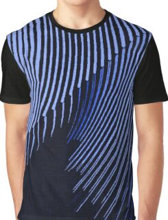 Blue waves, line art, curves, abstract pattern 2 Graphic T-Shirt