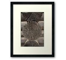 old log house coner Framed Print