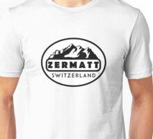 ZERMATT SWITZERLAND Mountain Skiing Ski Snowboard Snowboarding 5 Unisex T-Shirt