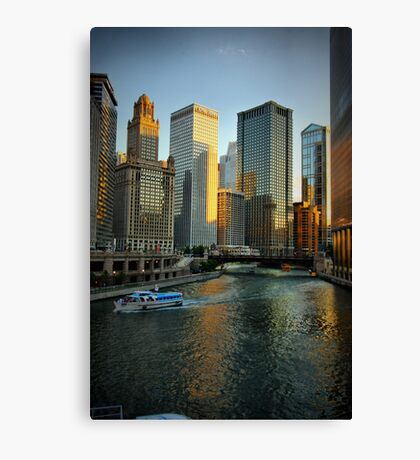 Chicago Evening Canvas Print