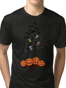 Pumpkins and Bats Tri-blend T-Shirt