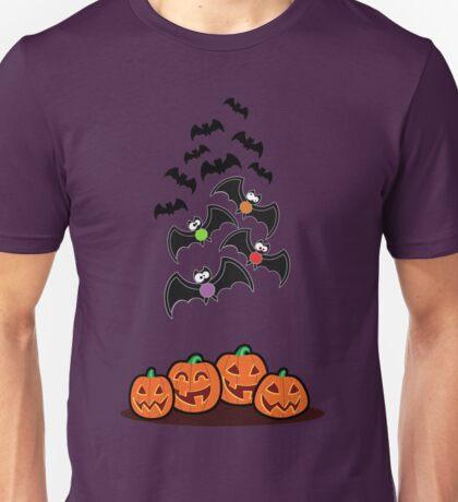 Pumpkins and Bats Unisex T-Shirt