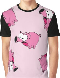 background with scared pigs Graphic T-Shirt