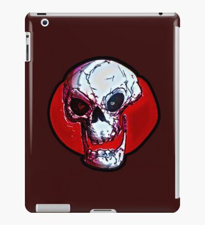 skull cartoon style illustration iPad Case/Skin