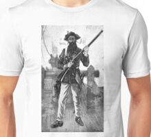 Blackbeard at attention with rifle  Unisex T-Shirt