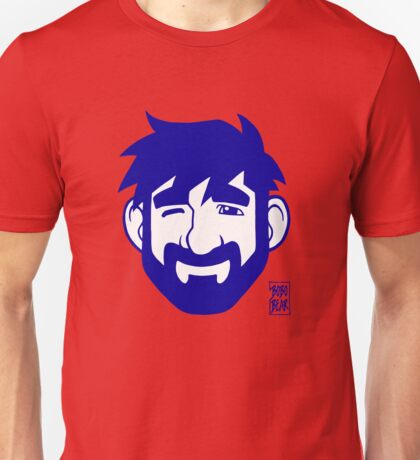 ADAM LIKES RED AND BLUE Unisex T-Shirt