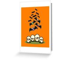 Bats n Skulls Greeting Card