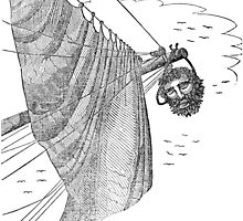 Blackbeard's Head Being hung from the Bow by BravuraMedia