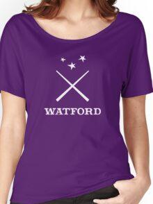 Watford School of Magicks, Simon Snow - Large Logo, white Women's Relaxed Fit T-Shirt