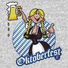 Oktoberfest - girl in a dirndl by cardvibes
