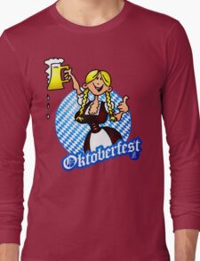 Oktoberfest - girl in a dirndl Long Sleeve T-Shirt