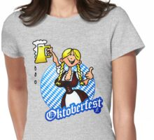 Oktoberfest - girl in a dirndl Womens Fitted T-Shirt